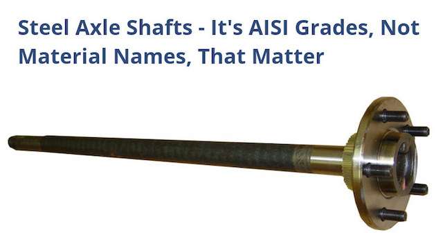 AISI ratings shaft