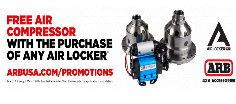 ARB Air Locker Air Compressor Promotion