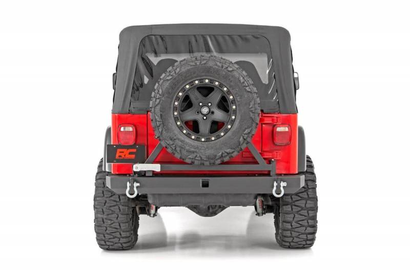 Rough Country Jeep Classic Full Width Rear Bumper w/Tire Carrier (87