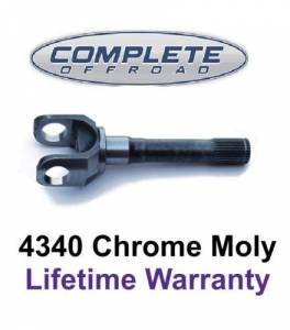 "COMPLETE OFFROAD - CHEVY & DODGE 12"" 35 SPLINE CHROME-MOLY OUTER STUB AXLE (W46100)"