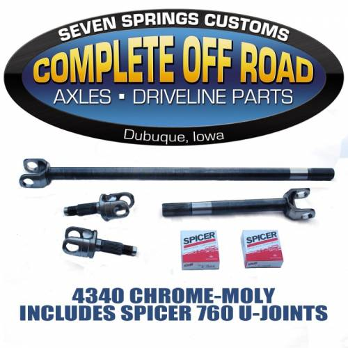COMPLETE OFFROAD - JEEP RUBICON CHROME-MOLY AXLE KIT (24154)