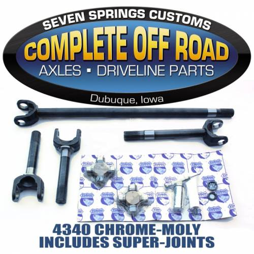 COMPLETE OFFROAD - 79-93 DODGE 30/35 CHROME-MOLY AXLE KIT W/SUPER U-JOINTS (W 26024)