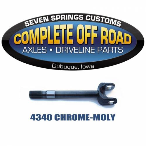 "COMPLETE OFFROAD - 78-79 F350 & SNOFIGHTER 18.7"" CHROME-MOLY 35 SPLINE INNER AXLE (W48206)"