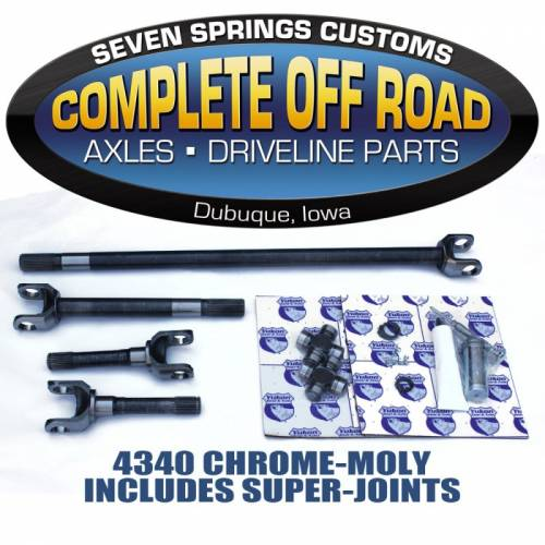 COMPLETE OFFROAD - 74-79 WAGONEER W/ DRUM BRAKES CHROME-MOLY AXLE KIT W/SUPER U-JOINTS (W24144)