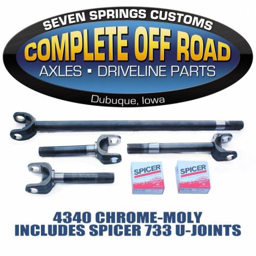 COMPLETE OFFROAD - 79-93 DODGE CHROME-MOLY AXLE KIT W/ SPICER U-JOINTS (W 26022)