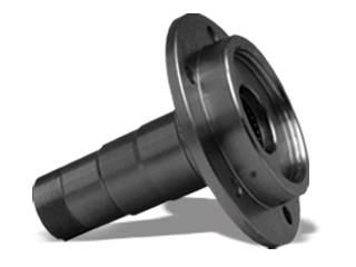 """Yukon Gear And Axle - Replacement front spindle for Dana 60 Ford, 5 holes 7 """" long, 6.5"""" flange, 2.020x2.255 bearing"""