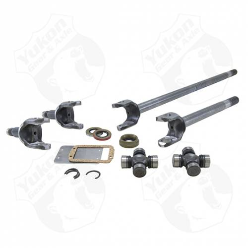 Yukon Gear & Axle - Yukon front 4340 Chrome-Moly replacement axle kit for Dana 30 ('84-'01 XJ, '97 and newer TJ, '87 & up YJ (YA W24110)