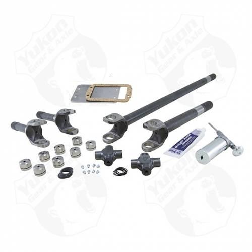 Yukon Gear & Axle - Yukon 4340 Chrome-Moly replacement Axle kit for Jeep TJ, YJ & XJ Dana 30, w/ Super Joints (YA W24112)