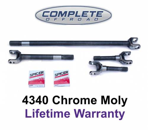 COMPLETE OFFROAD - CJ JEEP 71-81 CHROME-MOLY AXLE KIT W/ 760 U-JOINTS 27 SPLINE (W24106)