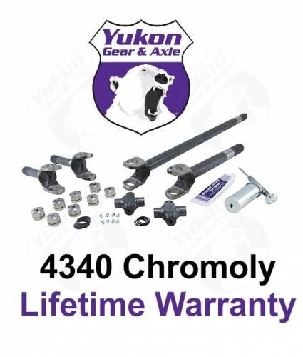Yukon Gear & Axle - Yukon front 4340 Chrome-Moly replacement axle kit for '82-'86 Dana 30 Jeep CJ (YA W24116)