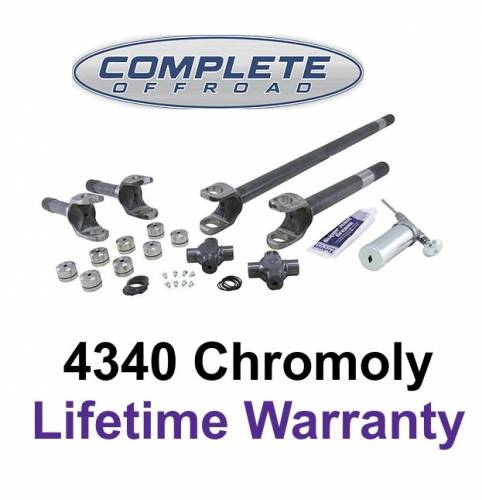 COMPLETE OFFROAD - 1966-1977 BRONCO CHROME-MOLY AXLE KIT W/SUPER U-JOINTS (W24132)