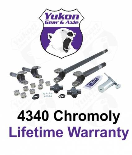 Yukon Gear And Axle - Yukon front 4340 Chrome-Moly replacement axle kit for '74-'79 Wagoneer (drum brakes) (YA W24144)