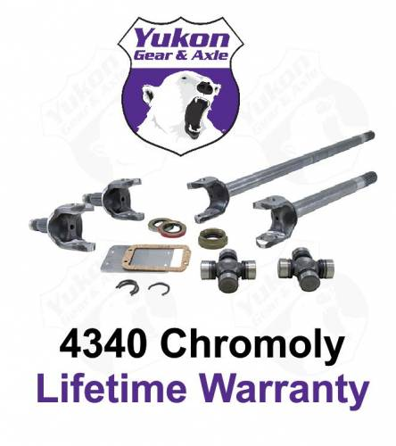 Yukon Gear And Axle - Yukon front 4340 Chrome-Moly replacement axle kit for Dana 30 Jeep XJ, YJ & TJ with 30 spline axles (YA W24160)