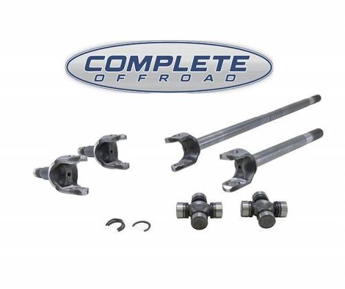 COMPLETE OFFROAD - JK Rubicon D44 4340 Chrome-Moly axle kit with Spicer 7166 U- Joints (larger than 760) for '07-'13 Dana 44 front (W24168)
