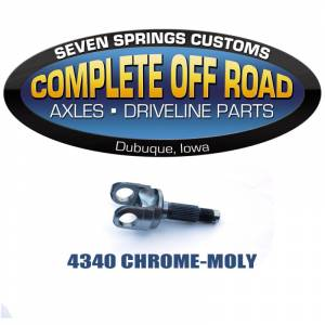"Dana 30 Axles and Axle Bearings - Dana 30 Outer Stub Axles - Complete Off Road - YJ XJ TJ 6.11"" 27 SPLINE CHROME-MOLY OUTER STUB AXLE (W39125)"
