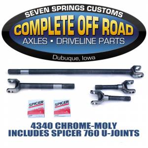 Axles - COMPLETE OFFROAD - 1971-77 BRONCO CHROME-MOLY AXLE KIT W/ 760 U-JOINTS (W24130)