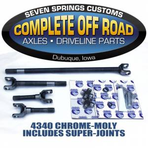 Dana 44 Axles and Axle Bearings - Dana 44 Front Axle Kits - Complete Off Road - 74-79 WAGONEER W/ DISK BRAKES AXLE KIT W/SUPER U-JOINTS (24148)