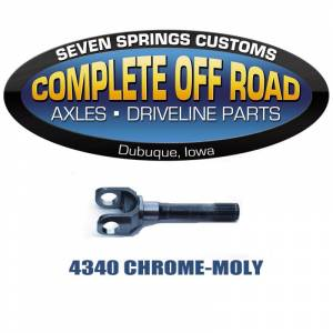 "Dana 30 Axles and Axle Bearings - Dana 30 Outer Stub Axles - Complete Off Road - CJ SCOUT 27 SPLINE 8.72"" OUTER STUB AXLE (W39105)"