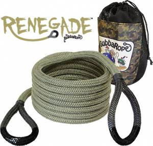 "Bubba Rope - Renegade Camo Green Bubba Rope Breaking Strength: 19,000 lbs. 3/4"" x 20' 176655BKG"
