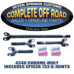 COMPLETE OFFROAD - 4340 Chrome-Moly axle kit for '77-'91 GM, Dana 60 with 35 splines (YA W26002)