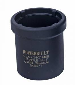 Tools - Hub, Spindle, Ball Joint Tools - COMPLETE OFFROAD - Powerbuilt 648477 Spindle Nut Socket 1 Ton, Four Inner (648477)