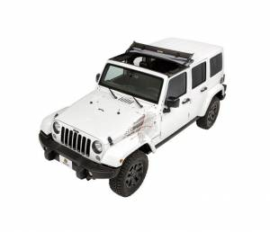 Bestop - Bestop Sunrider for Hardtop Jeep 07-16 Wrangler JK Black Diamond 52450-35