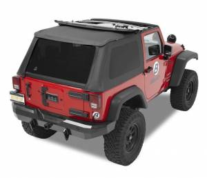 Bestop - Bestop Replace-a-Top for Trektop NX Jeep 07-15 Wrangler JK Black Diamond 52822-35