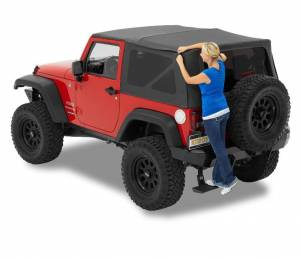 Bestop - Bestop Supertop NX Jeep 07-15 Wrangler JK Complete Replacement Soft Top Black Diamond (54722-35)