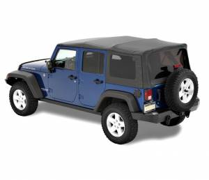 Bestop - Bestop Supertop NX Jeep 07-15 Wrangler JK Complete Replacement Softop Black Diamond (54723-35)