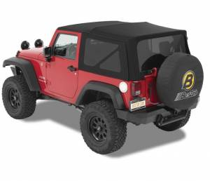 Soft Tops - Bestop Soft Top Jeep JK Wrangler 2007-2016 - Bestop - Bestop Supertop NX Softop 07-15 Jeep Wrangler JK Black Twill (54822-17)