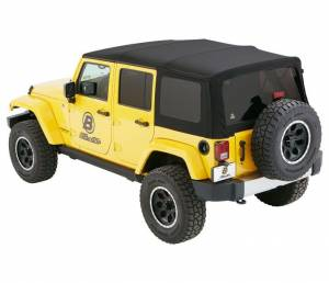 Soft Tops - Bestop Soft Top Jeep JK Wrangler 2007-2016 - Bestop - Bestop Supertop NX Softop 07-15 Jeep Wrangler JK Black Twill (54823-17)