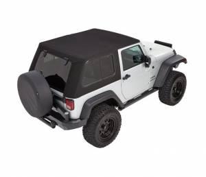 Soft Tops - Bestop Soft Top Jeep JK Wrangler 2007-2016 - Bestop - Bestop Trektop Pro Hybrid Soft Top Jeep 07-16 Wrangler JK Black Twill 54852-17