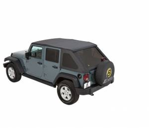 Soft Tops - Bestop Soft Top Jeep JK Wrangler 2007-2016 - Bestop - Bestop Trektop NX Complete Replacement Soft Top Jeep 07-15 Wrangler JK 56823-35