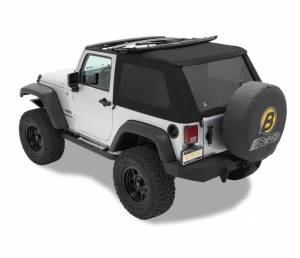 Bestop - Bestop Replace-a-Top for Trektop NX Jeep 07-15 Wrangler JK Black Twill 59722-17