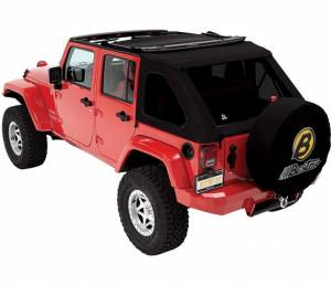 Bestop - Bestop Replace-a-Top for Trektop NX Jeep 07-15 Wrangler JK Black Twill 59723-17