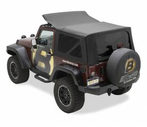 Bestop - Bestop Sailcloth Replace-a-Top Soft Top Jeep 07-09 Wrangler JK Black Diamond 79136-35