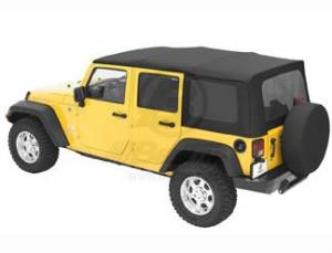 Bestop - Bestop Sailcloth Replace-a-Top Soft Top Jeep 07-09 Wrangler JK Black Diamond 79137-35