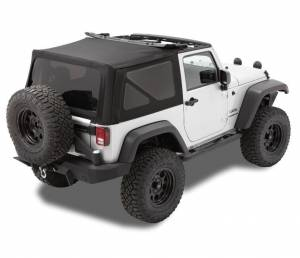 Bestop - Bestop Replace-a-Top Soft Top Jeep 07-09 Wrangler JK Black Twill (79836-17)
