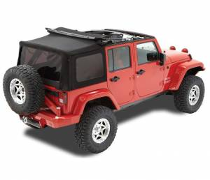 Bestop - Bestop Replace-a-Top Soft Top Jeep 10-15 Wrangler JK Black Twill (79847-17)