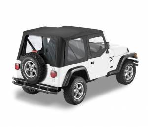 Bestop - Bestop Replace-a-Top Black Sailcloth with Upper Door Skins YJ Wrangler 79120-01