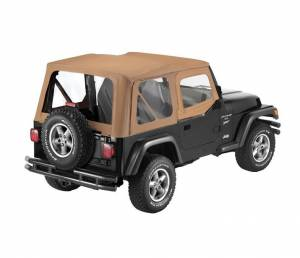 Bestop - Bestop Replace-a-Top Spice Sailcloth with Upper Door Skins YJ Wrangler 79120-37
