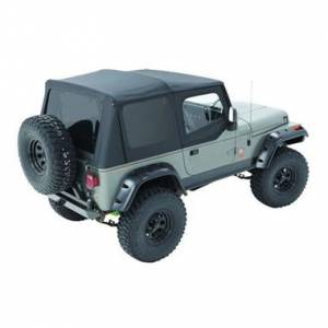 Bestop - Bestop Replace-a-Top Black Sailcloth Tinted Windows with Upper Door Skins YJ Wrangler 79123-01