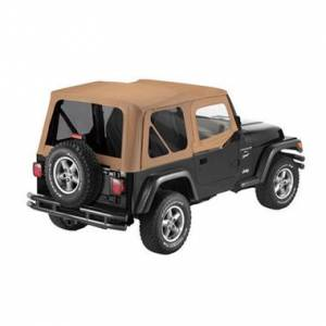 Bestop - Bestop Replace-a-Top Spice Sailcloth Tinted Windows with Upper Door Skins YJ Wrangler 79123-37