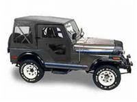 Bestop - Bestop Replace-a-Top with Clear Windows Black Vinyl Jeep CJ5 51117-01