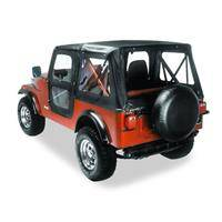 Bestop - Bestop Replace-a-Top with Clear Windows Black Vinyl Jeep CJ7 51118-01