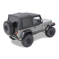 Bestop - Bestop Replace-a-Top Black Crush Clear Windows with Upper Door Skins Jeep YJ Wrangler 51119-01