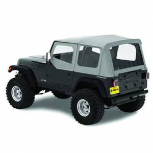 Bestop - Bestop Replace-a-Top Charcoal Clear Windows with Upper Door Skins Jeep YJ Wrangler 51120-09