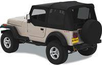 Bestop - Bestop Replace-a-Top Black Denim Clear Windows with Upper Door Skins Jeep YJ Wrangler 51120-15