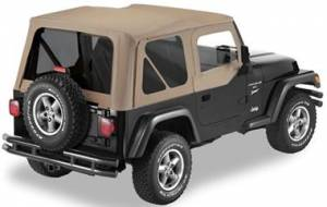 Bestop - Bestop Replace-a-Top Dark Tan Tinted Windows (97-02 TJ) 51124-33