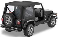 Bestop - Bestop Replace-a-Top Black Denim Clear Windows (97-02 TJ) 51127-15